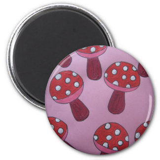 Pink Toadstool Products Refrigerator Magnet