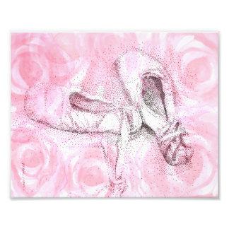Pink toe shoes art print photo print