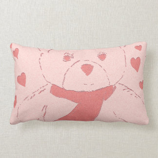 Pink Toned Teddy Bear Pillows