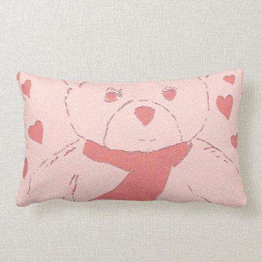 Pink Toned Teddy Bear Pillows