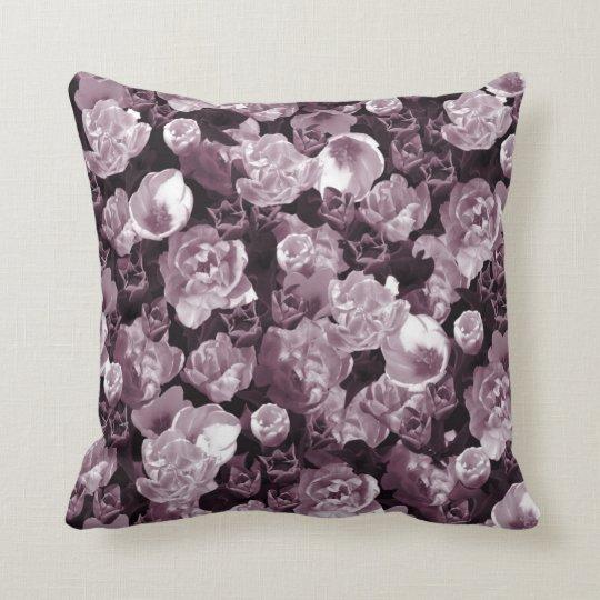 Pink toned tulips throw pillow