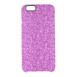Pink Tones Faux Glitter And Sparkless Clear iPhone 6/6S Case