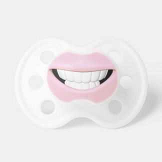 Pink Toothy Smile Pacifier