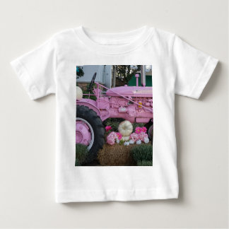 Pink Tractor Baby T-Shirt