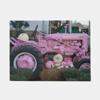 Pink Tractor Doormat