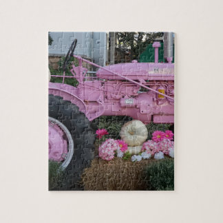 Pink Tractor Jigsaw Puzzle