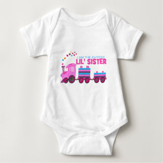 Pink Train - Lil' Sister Baby Bodysuit