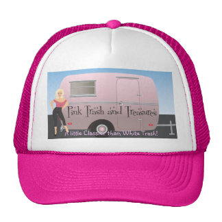 Pink Trash and Treasures logo Trucker Hat