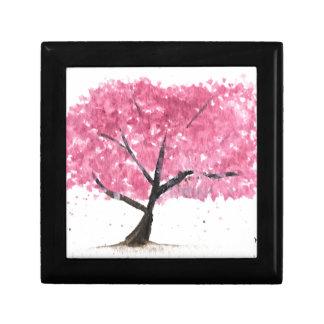 Pink tree cherry blossom gift box