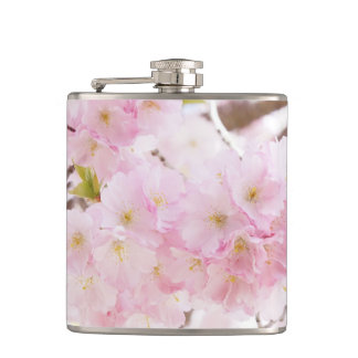 Pink Tree Cherry Blossom Hip Flask