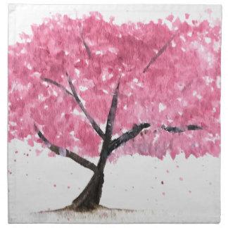 Pink tree cherry blossom napkin