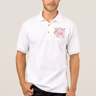 Pink Tree Cherry Blossom Polo Shirt
