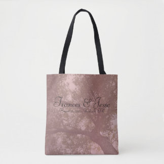 Pink tree nature love tote bag