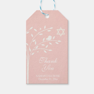 Pink Tree of Life Favor Tag, Jewish Gift Tags