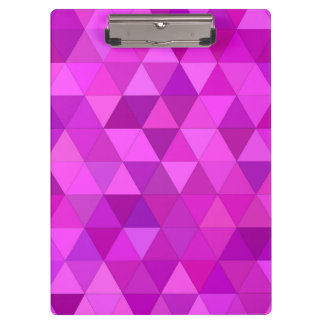 Pink triangles clipboards