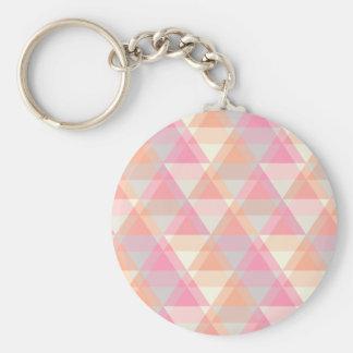 Pink Triangles Keychain