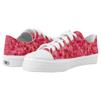 Pink Triangles Low-Top Sneakers