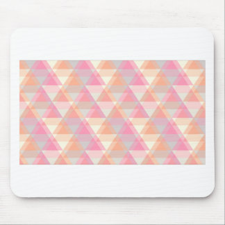 Pink Triangles Mouse Pad