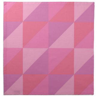 Pink Triangles Napkin