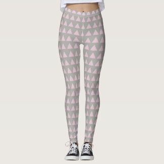 Pink triangles on gray, beautiful leggings