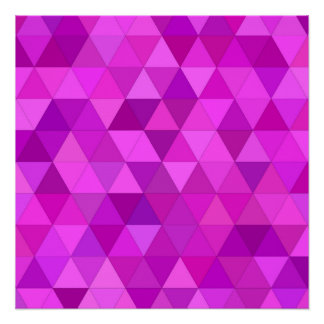 Pink triangles perfect poster
