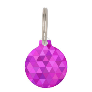 Pink triangles pet name tag