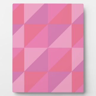 Pink Triangles Plaque