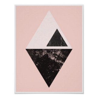 Pink triangles poster print