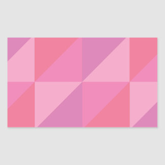 Pink Triangles Sticker