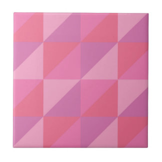 Pink Triangles Tile