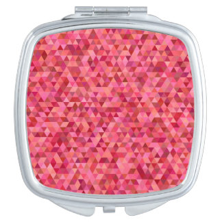 Pink Triangles Travel Mirror