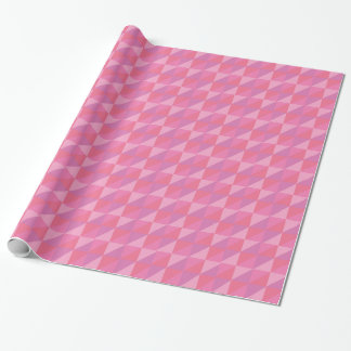 Pink Triangles Wrapping Paper