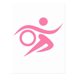 Pink Triathlete Postcard