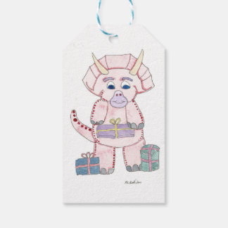 Pink Triceratops Gift Tags Pack Of Gift Tags