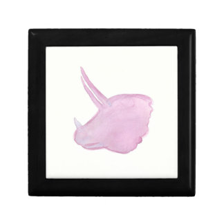 Pink Triceratops Head Gift Box