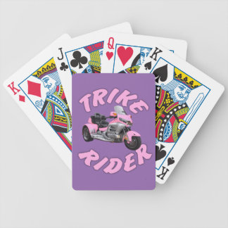 Pink Trike Rider Bicycle Playing Cards