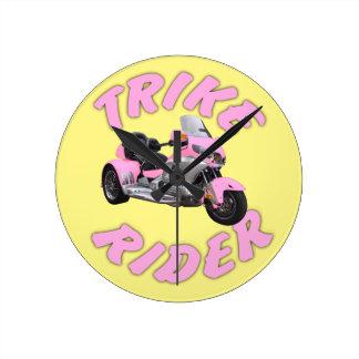 Pink Trike Rider Clocks