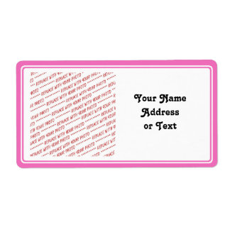 Pink Trimmed Border Template Shipping Label