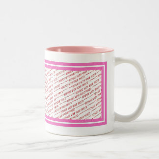 Pink Trimmed Border Template Two-Tone Coffee Mug