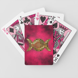 Pink Triple Goddess Wicca Playing Deck of Cards