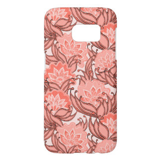 Pink Tropical Floral Pattern Samsung Galaxy S7 Case