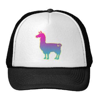 Pink Tropical Llama Cap Trucker Hat