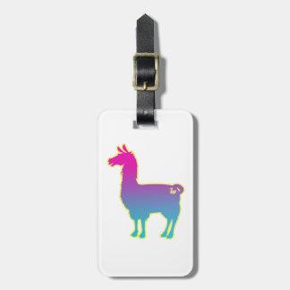 Pink Tropical Llama Luggage Tag