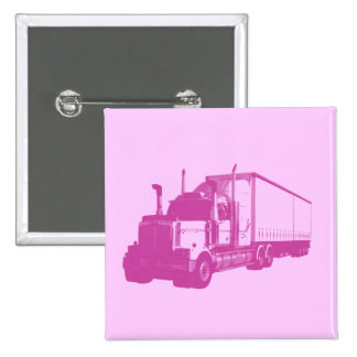 Pink Truck 2 Inch Square Button
