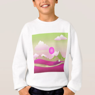 Pink Truck of White Hearts Driving on Road, Pink Sweatshirt
