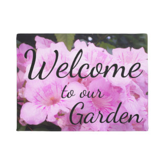 Pink Trumpet Vine Podranea Photo Doormat