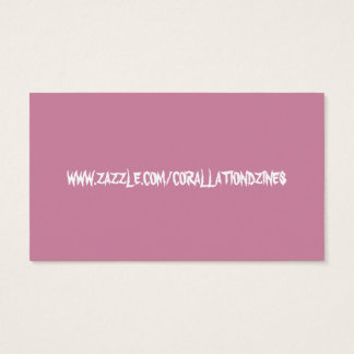 Pink truth biz card