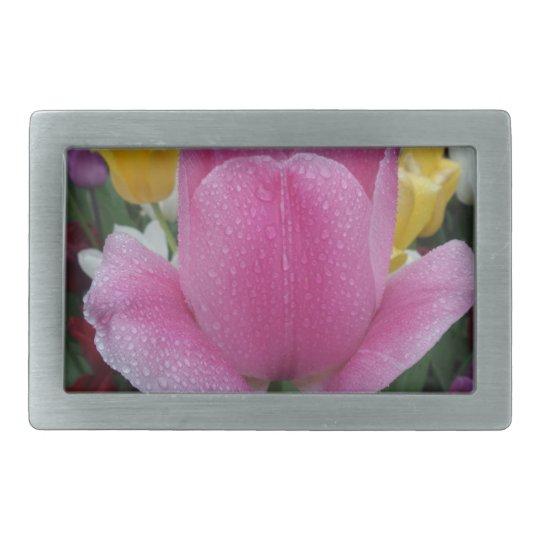 Pink Tulip Belt Buckle