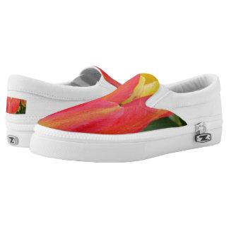 Pink Tulip Custom Zipz Slip On Shoes,  Men & Women
