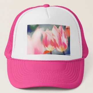 Pink Tulip Duo Sketch Trucker Hat